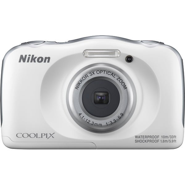 Nikon Coolpix W100 Rugged Digital Camera (White)