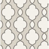 Brewster 2625-21821 Structure Silver Chain Link Wallpaper - silver chain link
