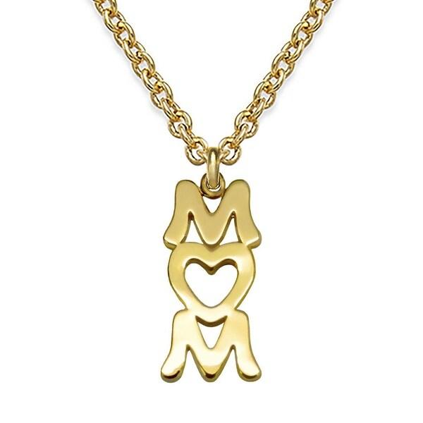 """Julieta Jewelry Mom Gold Charm 16"""" Necklace"""