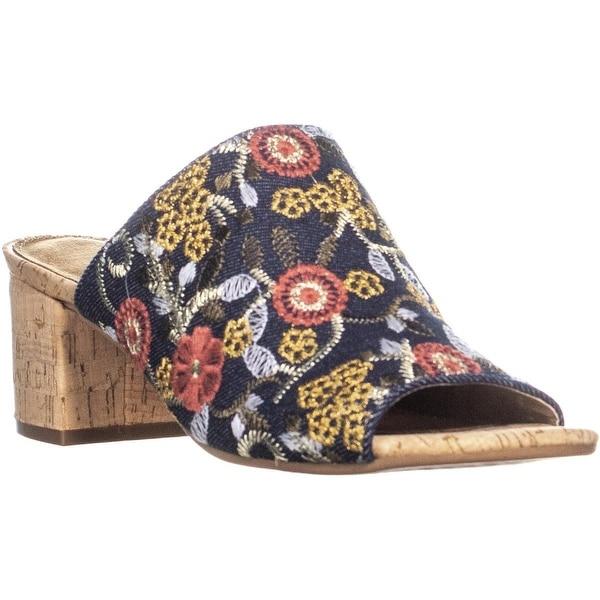 4be7958c91c Shop Aerosoles Mid Level Peep Toe Block Heel Slip On Sandals