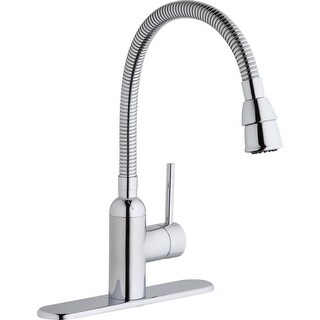Elkay LK2500 Pursuit Flexible-Spout Single Handle Kitchen/Laundry Faucet - CHROME - n/a