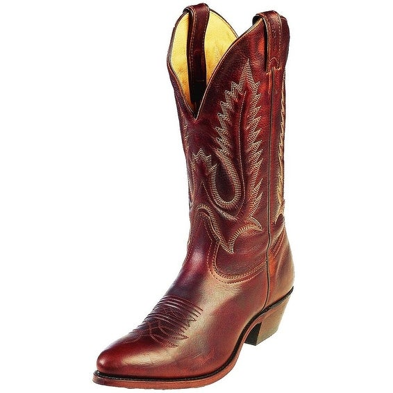 Boulet Western Boots Mens Cowboy Leather Grizzly Mountain