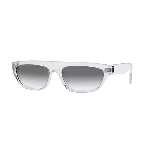 Burberry BE4301 30248E 57 Transparent Woman Rectangle Sunglasses - Clear