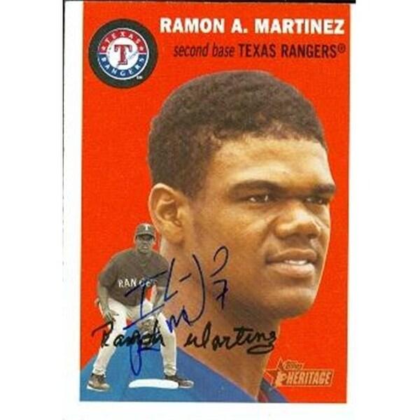 Ramon Martinez Autographed Baseball Card Texas Rangers 2003 Topps