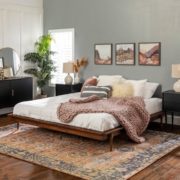 Carson Carrington King Size Solid Wood Platform Bed. Opens flyout.