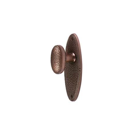 The Copper Factory CF179 Solid Copper Passage Door Knob Set with Oval Rosette -