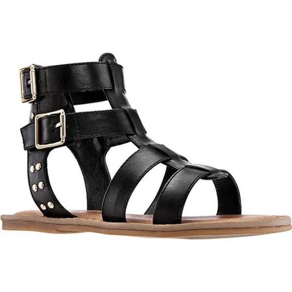 9c6d25b9f85 Shop Nina Girls  Brunilda Gladiator Sandal Black Smooth Synthetic ...