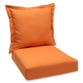 "44"" Sunbrella Orange Outdoor Patio Deep Seating Cushion and Back Pillow"