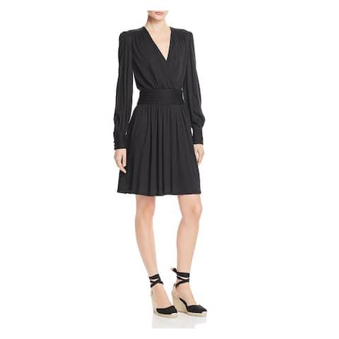 JOIE Black Long Sleeve Above The Knee Sheath Dress Size XS