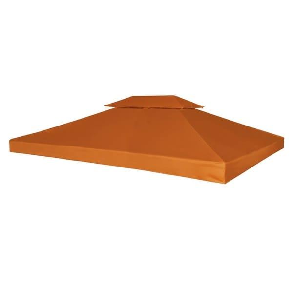 vidaXL Gazebo Canopy Top 10'x13' Terracotta Replacement Cover 2 Tier Outdoor