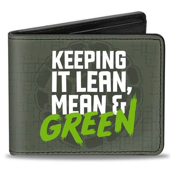 Keep It Lean, Mean & Green + Classic Teenage Mutant Ninja Turtles Group Bi-Fold Wallet - One Size Fits most