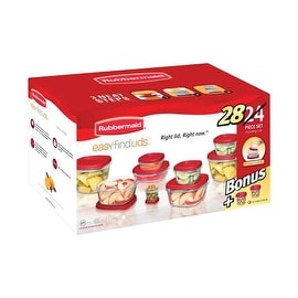 Rubbermaid 1792658 Easy Find Lid Food Storage Container Set, 28 Pieces