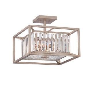 Designers Fountain 87411 Linares 3 Light Semi-Flush Ceiling Fixture
