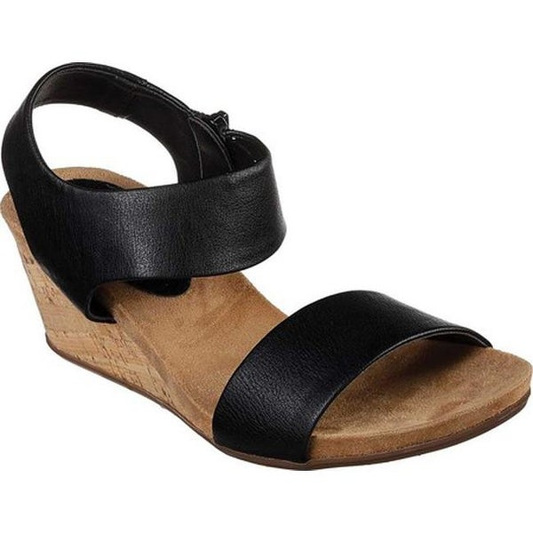 a7d4cc41f876 Shop Skechers Women s Cool Step Wedge Sandal Black - Free Shipping ...