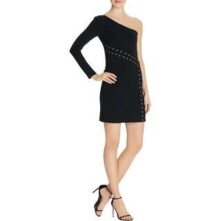 Parker Womens Davita Cocktail Dress Lace Up One Shoulder