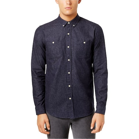 Ezekiel Mens Breakaway LS Button Up Shirt, Blue, XX-Large