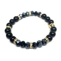 "Black Onyx Posh 7"" Stretch Bracelet"