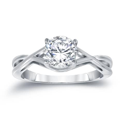 Auriya 14k Gold 1ctw Solitaire Diamond Engagement Ring