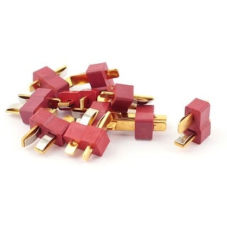 10Pcs Spring Clip Male Ultra T Plug Connectors for RC LiPo Battery
