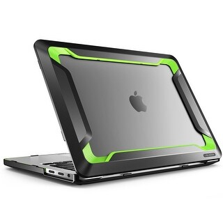 Macbook Pro 15 Case 2016, i-Blason, Rugged Case, Slim Rubberized Cover with Touch Bar and Touch ID (Green)