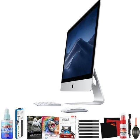 """Apple 27"""" iMac with Retina 5K Display (Early 2019) - Home Productivity Bundle - Photo Artist Software Collection"""
