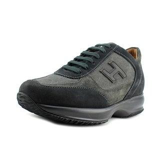Hogan New Interactive H Vintage EW Round Toe Canvas Sneakers