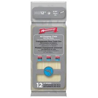 """Arrow MG12 All Purpose Clear Mini Glue Sticks, 4"""""""