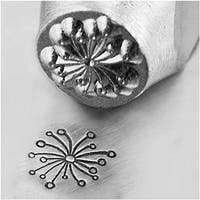 ImpressArt Metal Punch Stamp 'Dandelion' 6mm (1/4 Inch) Design - 1 Piece