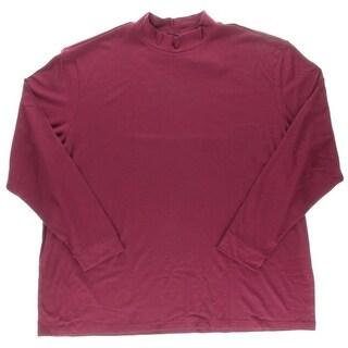 John Ashford Mens Big & Tall Cotton Long Sleeves Turtleneck Shirt - 4xlt