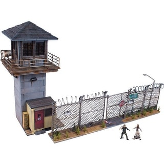 Walking Dead TV Prison Tower and Gate Building Set