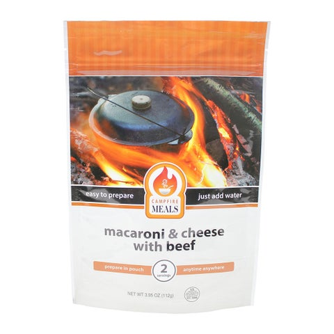 Campfire Meals Cheesy Hamburger Macaroni - Freeze Dried Food for Outdoor Use, Emergency Preparedness & Everyday Use
