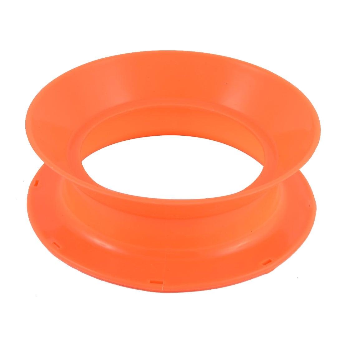 Unique Bargains Plastic Fish Line Wire Bearing Fishing Spinning Reel Wheel 8 Inch Dia Orange