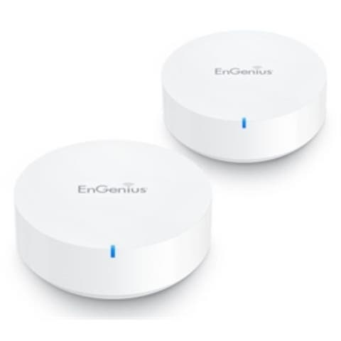 EnGenius Router Wireless ESR530-2PACK EnMesh AC1300 Dual-Band Whole-Home Smart Wi-Fi Retail