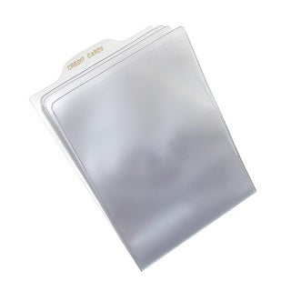 Buxton Pull Tab Window Inserts for Money Clip & Front Pocket Wallet (Pack of 5) - Clear - One Size