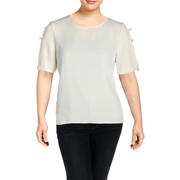 e24d8cf99cf88f Shop CeCe Womens Blouse Crepe Bow - XL - Free Shipping On Orders Over $45 -  Overstock - 27384545