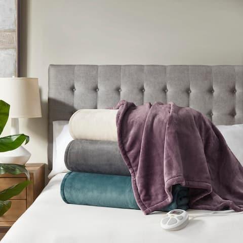 Plush Heated Blanket by Serta