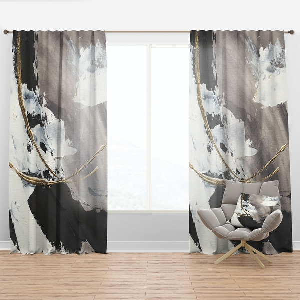 Designart 'Glam Painted Arcs II' Modern Curtain Panel. Opens flyout.