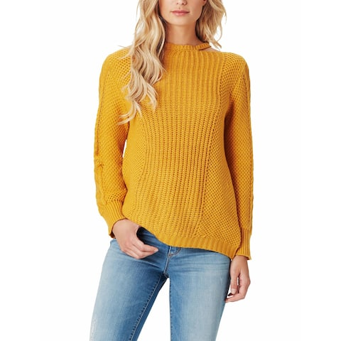 Jessica Simpson Yellow Womens Size XL Cutout Pullover Sweater