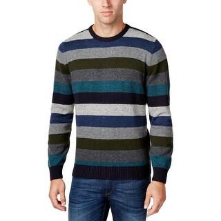 Tricots St. Raphael Mens Crewneck Sweater Striped Knit - XL