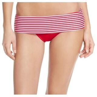 Seafolly NEW Red White Women's Size 12 Striped Bikini Bottom Swimwear