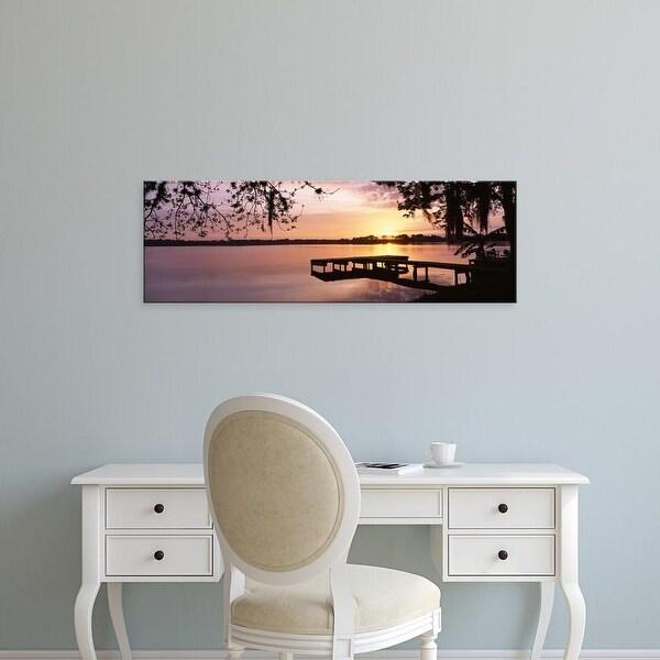 Easy Art Prints Panoramic Images's 'USA, Florida, Orlando, Koa Campground, Lake Whippoorwill, Sunrise' Canvas Art