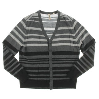C/89 Men Mens Cardigan Sweater Merino Wool Striped - M