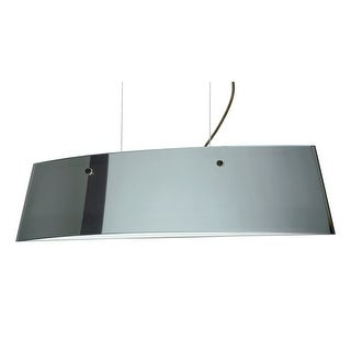 Besa Lighting LS3-4454MR Silhouette 3 Light Halogen Island Light with Mirror / Frost Glass Shade
