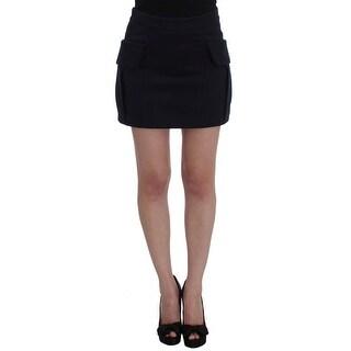 GF Ferre GF Ferre Blue Cotton Denim Mini Skirt - it40-s