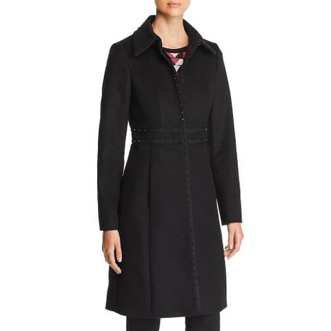 BOSS Hugo Boss Womens Castida Wool Coat Winter Studded