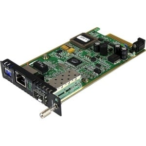 Startech - Gigabit Ethernet Fiber Media Converter Card Module With Open Sfp Slot