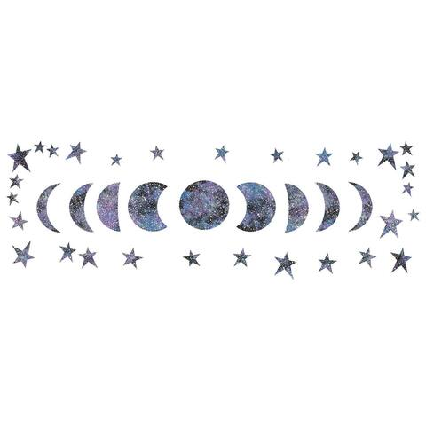 Brewster WPK3017 WallPops Reach for the Moon Wall Decorating Kit - 38 - Purple