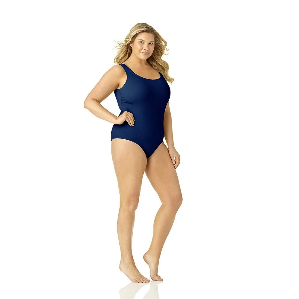 Catalina Womens Plus-Size Ribbed One Piece Swimsuit One Piece Swimsuit
