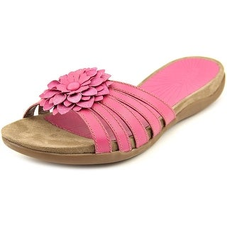 Array Maui W Open Toe Leather Slides Sandal
