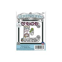 Design Works Zenbroidery Fabric 5x5 Letter E
